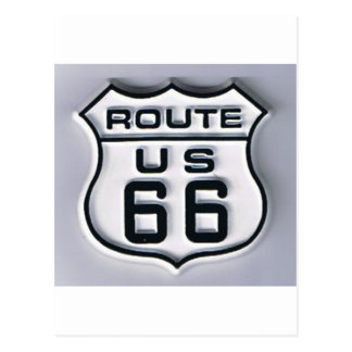 Route 66 3-D looking Postcard
