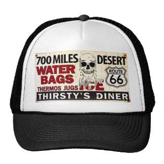 Route 66 - 700 miles desert roadside sign hat