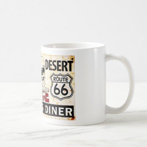 Route 66 - 700 miles desert roadside sign mug