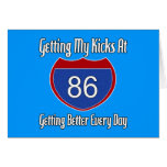 Route 66 86th Birthday Greeting Card