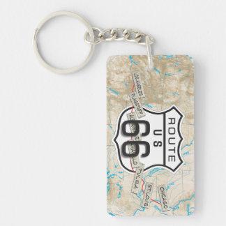 route 66 acrylic keychain 15e