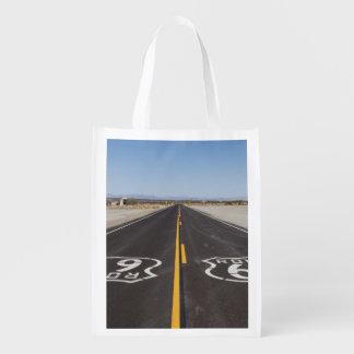Route 66, Amboy (California, USA) Reusable Grocery Bag