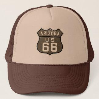 Route 66 Arizona US Design Sepia Trucker's Hat