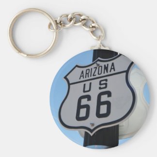 Route 66 basic round button key ring