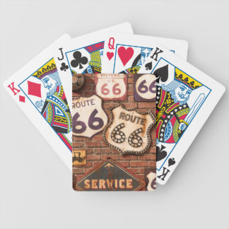Route 66 bicycle playing cards