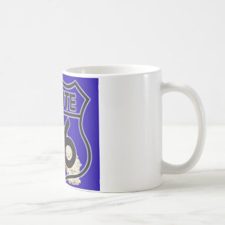 Route 66 Blue California Coffee Mug