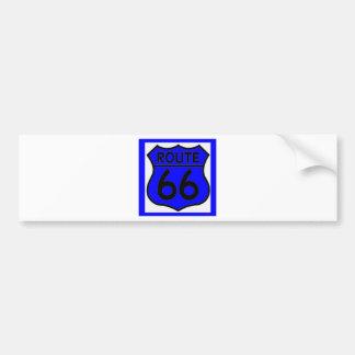 Route 66 Blue Customize it! Bumper Sticker