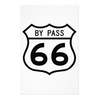 Route 66 - By Pass Personalized Stationery