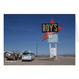 Route 66 California Motel Greeting Card