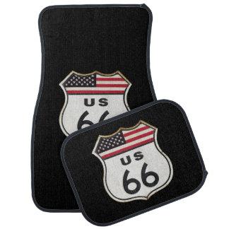Route 66 car mat