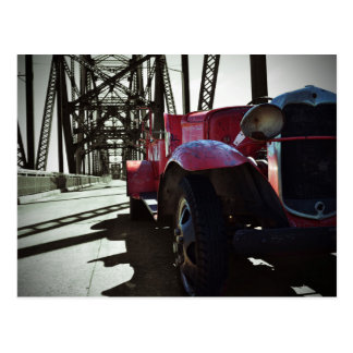 Route 66 Chain of Rocks Vintage Car Postcard