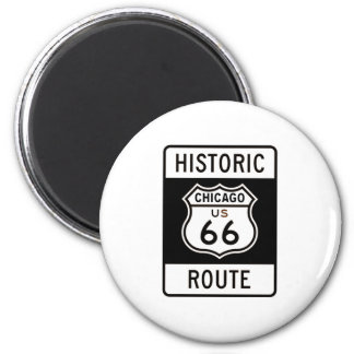 Route 66 Chicago 6 Cm Round Magnet
