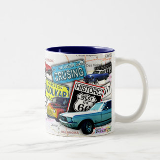 Route 66_ClassicCars Cups Mugs