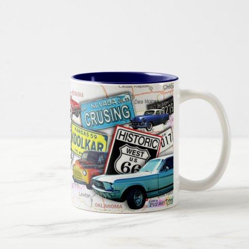 Route 66_ClassicCars Cups & Mugs