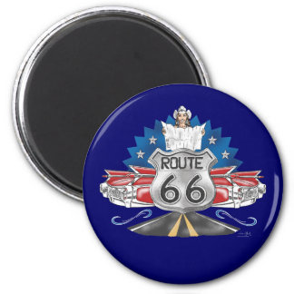 Route 66 Cowgirl Magnet