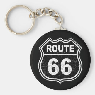 Route 66 Distressed Key Ring