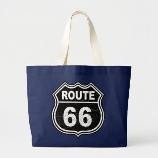 Route 66 Distressed Large Tote Bag