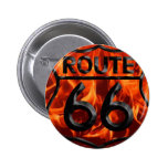 Route 66 Fire 1 6 Cm Round Badge