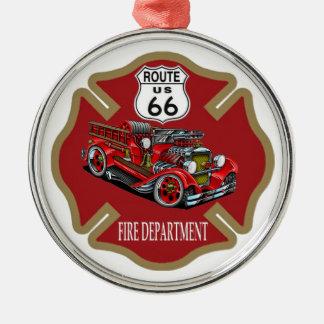 Route 66 Fire Department Ornament