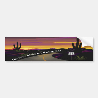 Route 66 Get Your Kicks Bumper Sticker