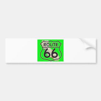 route 66 Green California1 Bumper Sticker