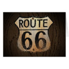 Route 66 Greeting Card Wood BG