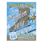 Route 66 Greetings Glendora California Postcard