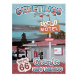 Route 66 Greetings Grants New Mexico Postcard