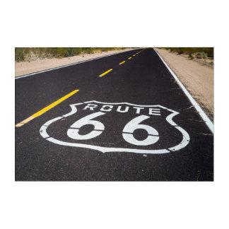 Route 66 highway marker, Arizona Acrylic Wall Art