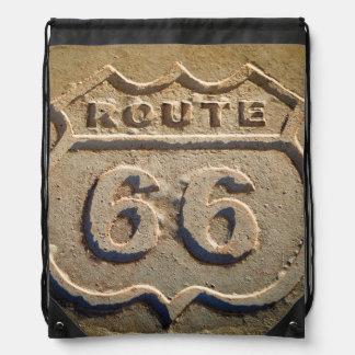 Route 66 historic sign, Arizona Drawstring Bag