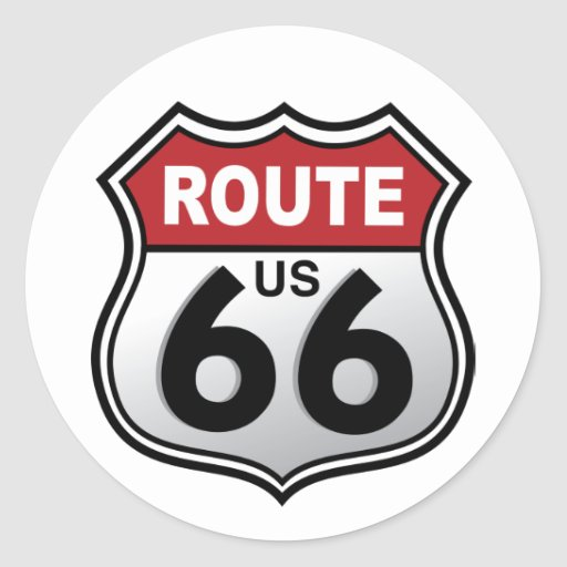 Route 66 Historic US Highway Sticker