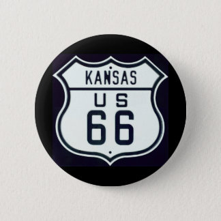 Route 66 Kansas 6 Cm Round Badge