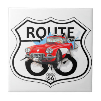 Route 66 life style love the freedom small square tile