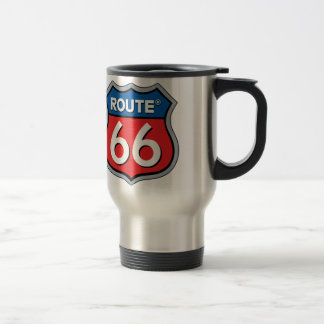 Route 66 Logo Travel Mug