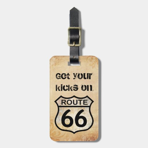 Route 66 bag tags