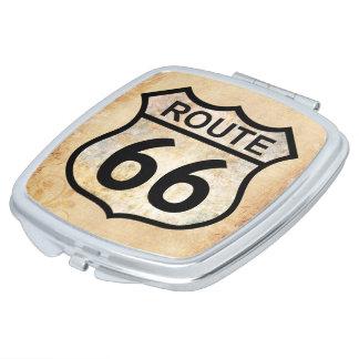 Route 66 makeup mirror