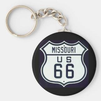 Route 66 Missouri Key Ring