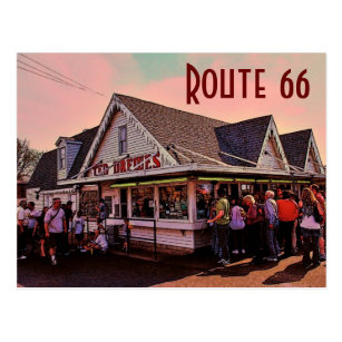 Route 66 (Missouri) Postcard