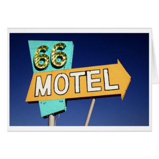 Route 66 Motel Card