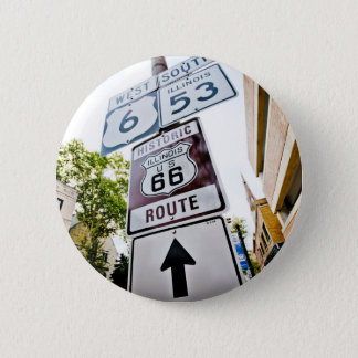 Route 66 Mother Road 6 Cm Round Badge