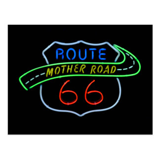 "Route 66 ""Mother Road"" Neon Sign Postcard"