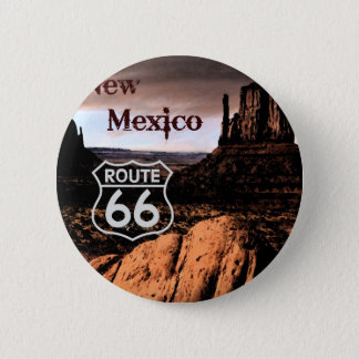 Route 66 new Mexico 6 Cm Round Badge