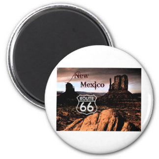 Route 66 new Mexico 6 Cm Round Magnet