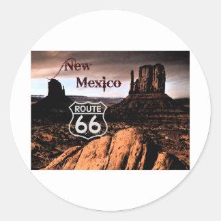 Route 66 new Mexico Classic Round Sticker