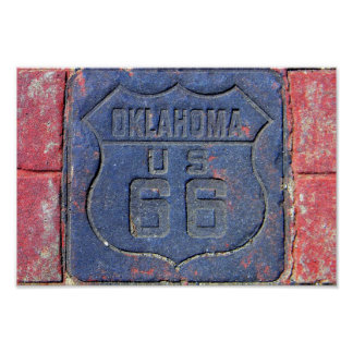 Route 66 Oklahoma Pavement Stone Poster