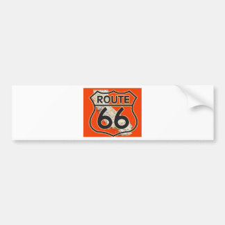 Route 66 Orange California Bumper Sticker