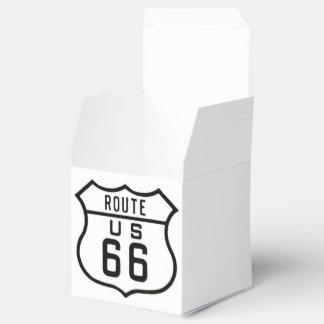 Route 66 party favour boxes