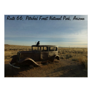 Route 66 Petrified Forest National Park Poster