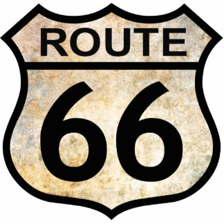 Route 66 photo sculpture key ring