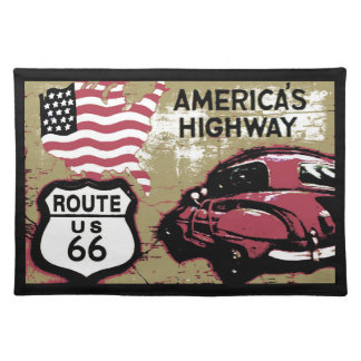 Route 66 placemat